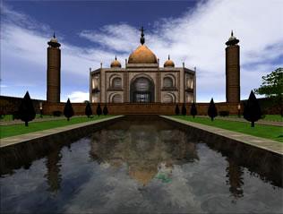 Foto do Mapa criado por usuário Taj Mahal no jogo Sauerbraten