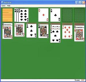 imagem do jogo paciência, disparadamente o jogo eletrônico mais jogado do planeta